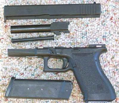 Glock 21 неполная разборка