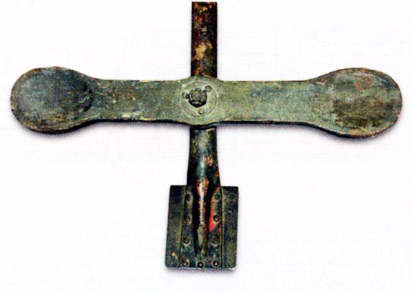 Планка для упора локтей пулеметчика при стрельбе из «Кольта», закрепленная на станке