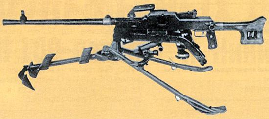 7,62-мм единый пулемет Гаранина 2Б-П-45 на станке-треноге Маркова. Батальонный вариант. Опытный образец 1958 г.