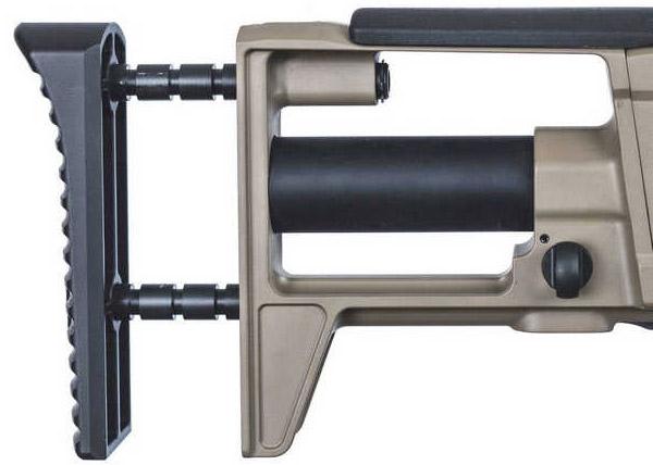 Телескопический приклад пулемета