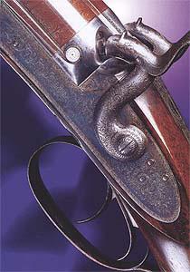 Дульнозарядная капсульная двустволка работы Джеймса Пёрде-старшего для live pigeon - садочной стрельбы.