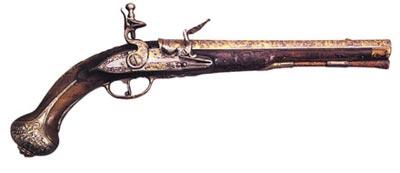 Пистолет с ударно-кремневым замком. Россия. Тула. 1747 год
