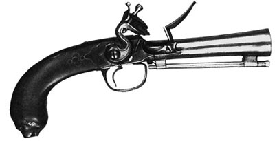 Пистолет «тромбон» с ударно-кремневым замком. Бельгия. XVIII век