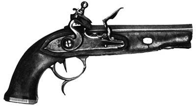 Пистолет «терцероль» с французским батарейным ударно-кремневым замком. Европа. Начало XIХ века