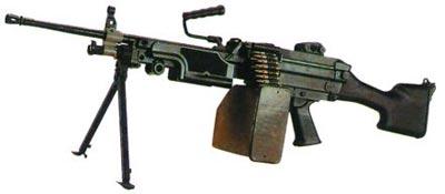 5,56-мм ручной пулемет FN Minimi Standart с пластмассовым прикладом (Бельгия)