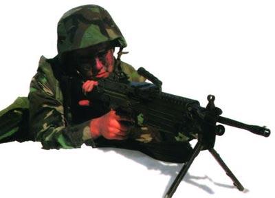 Ручной пулемет М249 SAW на вооружении американских морских пехотинцев