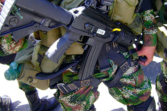 Galil ACE принят на вооружение армии Колумбии.