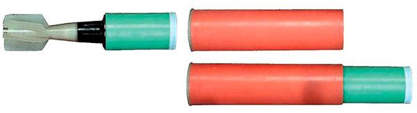 Выстрел с гранатой ГС-50М в сборе (справа) и в разобранном виде (слева)