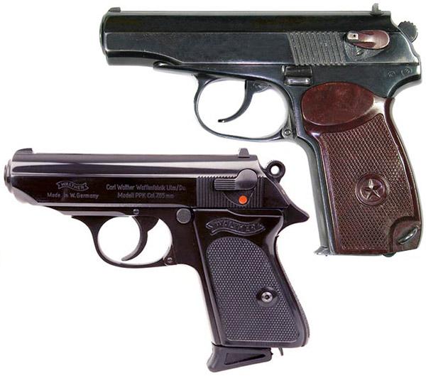 Пистолеты ПМ и «Вальтер»ППК