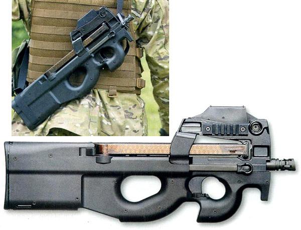 Бельгийский 5,7-мм <a href='https://arsenal-info.ru/b/book/643295886/4' target='_self'>пистолет-пулемет</a> FN P90 отличает не только компоновка «булл-пап», но и необычное размещение магазина немалой вместимости