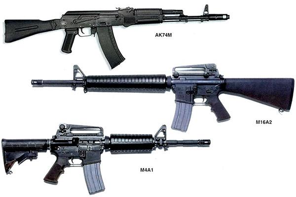 Автоматы АК-74М, М16А2, М4А1, принятые на вооружение в 80-90-х гг. прошлого века, сегодня являются основным видом индивидуального автоматического оружия Российской армии, армии США и ряда других стран