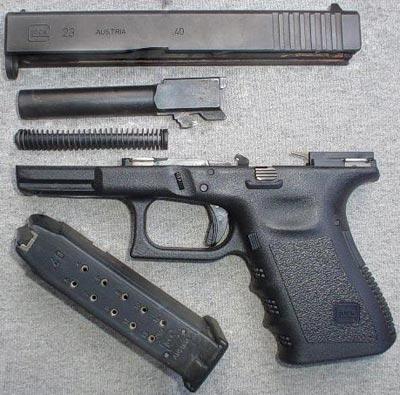 Glock 23 неполная разборка
