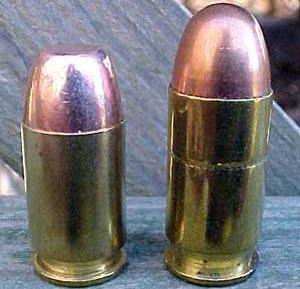 .45 GAP (слева) и .45 ACP (справа)