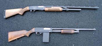 Помповые ружья ИЖ-81КМ и Бекас-12М
