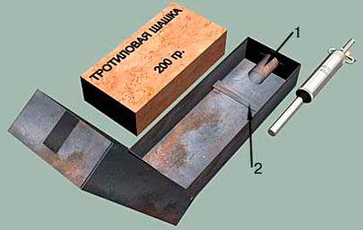 Противопехотная мина ПМД-6 металлическая (Советские и Российские мины)