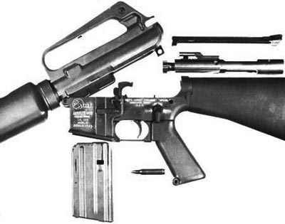 М16А1 при неполной разборке