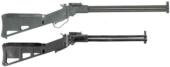 Springfield Armory M6 Scout (сверху) и Ithaca M6 rifle-shotgun survival (снизу)