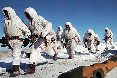 Мотострелковый взвод в снегах Сибири