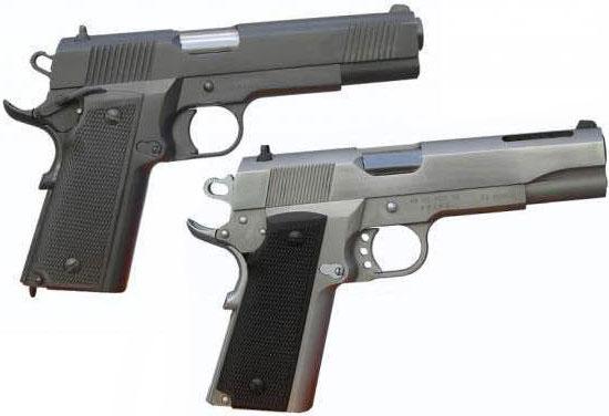Pistola 9 M973 модели GC MD1 (вверху) и GC MD1 A2 (внизу)