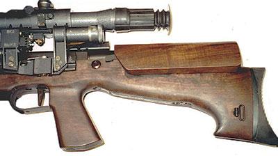 Вид на прицел и элементы приклада ОЦ-48К