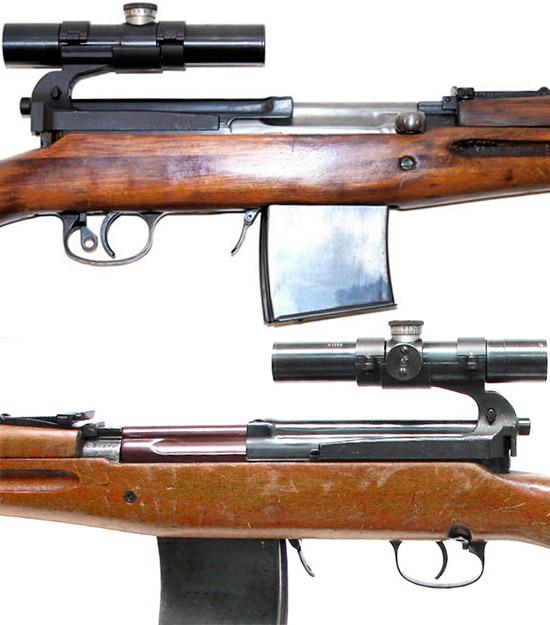 Элементы управления снайперской винтовки СВТ-40 с оптическим прицелом ПУ