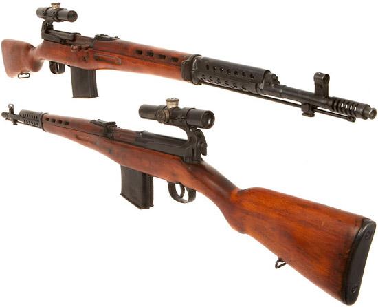 Снайперская винтовка СВТ-40 (вид сбоку спереди и сзади)