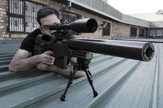 Винтовка Truvelo AMRIS 20x42 mm в боевом положении