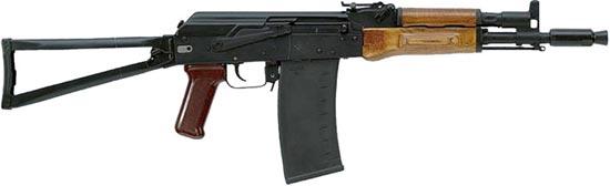 Сайга 410К-04 со складным металлическим прикладом, цевьем и прицелом в стиле АКС-74, 10-зарядным магазином
