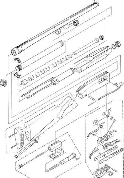 Winchester 1300 устройство ружья