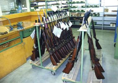Все модели Heym поступают на участок готового оружия для окончательного контроля