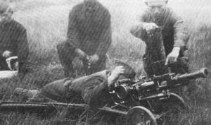 Испытания автоматического гранатомета Таубина калибром 40,8 мм (примерно 1938 год)