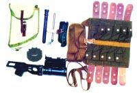 Подствольный гранатомет ГП-25, подготовленный для укладки в сумку
