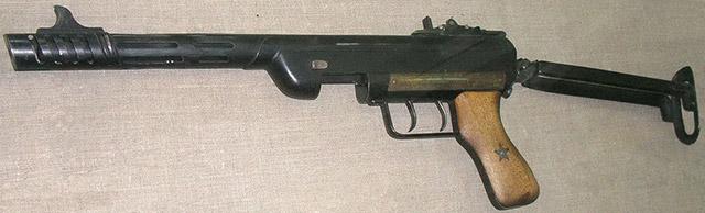 Пистолет-пулемет скрытого ношения конструкции Сергеева. Минский музей ВОВ