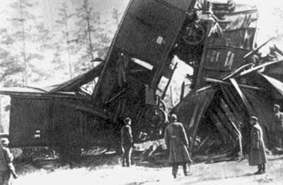 Крушение германского воинского эшелона