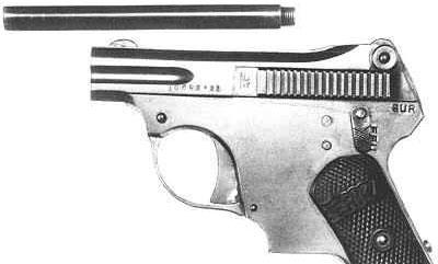 короткая модель пистолета Erika с удлиненным стволом