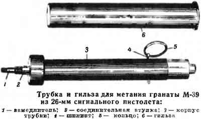 трубка и гильза для метания гранаты М-39