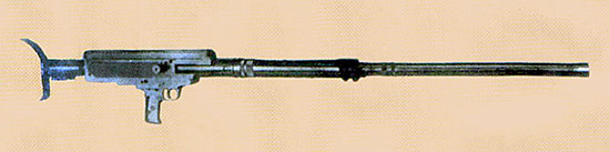 Рис. 2. Опытное 12,7-мм ПТР И. Гришеля и Г. Гулина ЦКБСВ-50, ЦКБ-14, г.Тула, 1936 г.