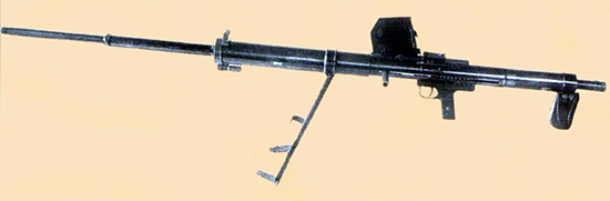 Рис. 7. ПТР Владимирова, 2-й вариант, во время испытаний 1939 г.