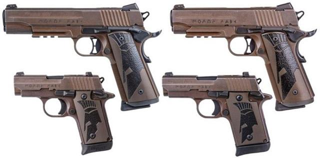 Полноразмерный и компактный (Carry) пистолеты SIG Sauer 1911 Spartan II, а также микрокомпакты P238 (.380 АСР) и P938 Spartan (9х19)