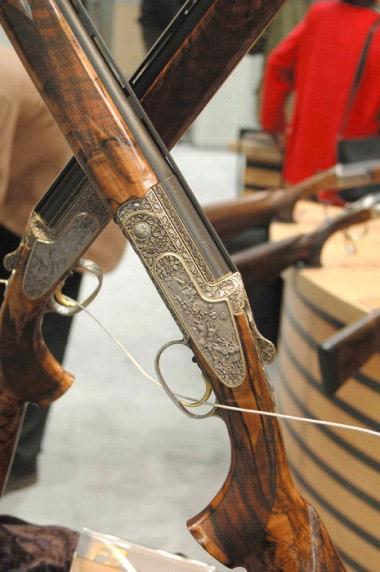 Гладкоствольное ружье Blaser F3, декорированное рельефной гравировкой