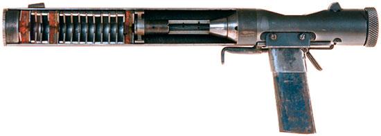 Welrod Mk IIA в разрезе