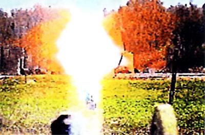 Действие по цели термобарической гранаты выстрела ВГ-40ТБ