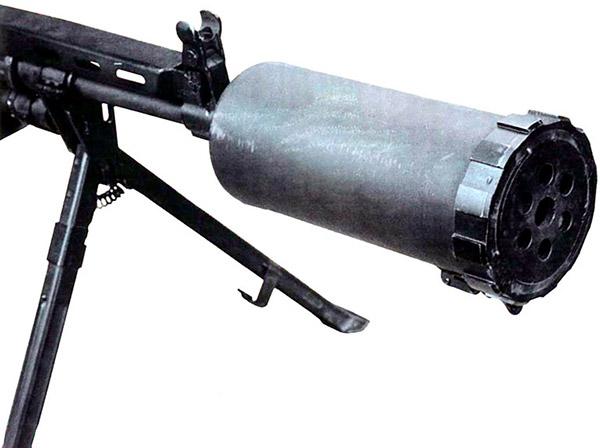 Прибор малошумной стрельбы пулемета АЕК-999 «Барсук»
