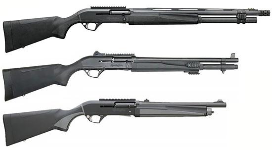 Сверху - вниз: Remington Versa Max Tactical, Remington R12, Remington R12-E (Entry)