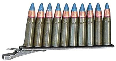 10-зарядная обойма с 9-мм специальными патронами с бронебойной пулей СП.6
