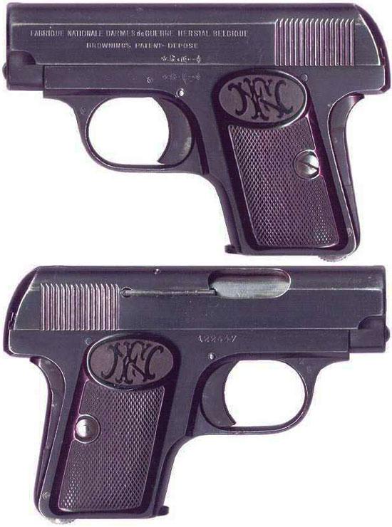 FN Browning M 1906 ранняя модель без флажкового предохранителя