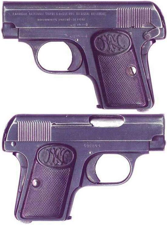 FN Browning M 1906 с флажковым предохранителем раннего выпуска