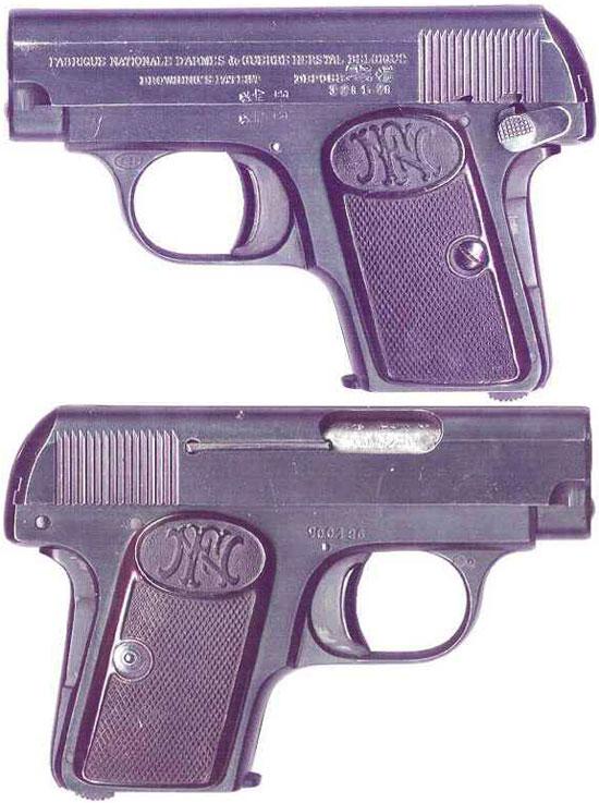 FN Browning M 1906 с флажковым предохранителем позднего выпуска