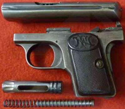 FN Browning M 1906 неполная разборка