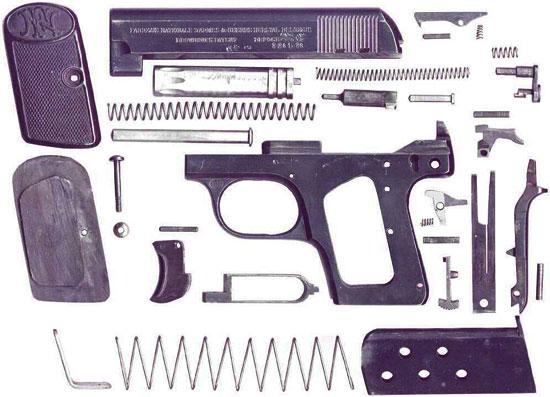 FN Browning M 1906 детали пистолета